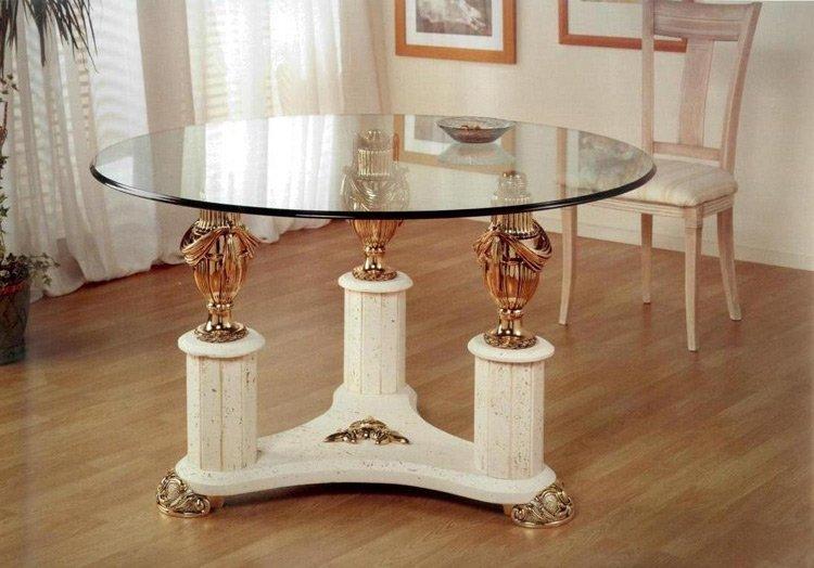 Mesas de comedor y centro de resina marmolizada muebles for Muebles iglesias zafra