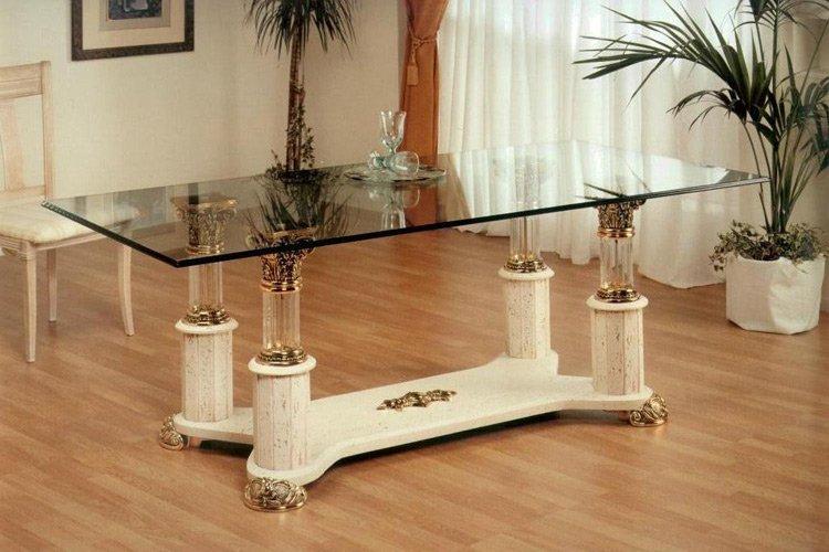 Mesas de comedor y centro de resina marmolizada muebles for Muebles en zafra